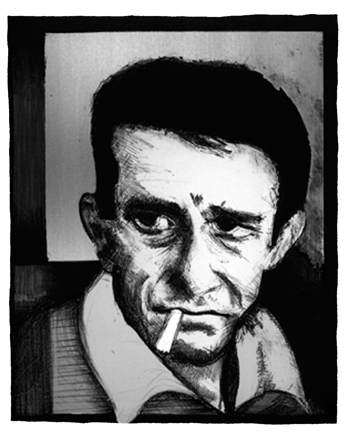 Johnny Cash Lithograph 1999