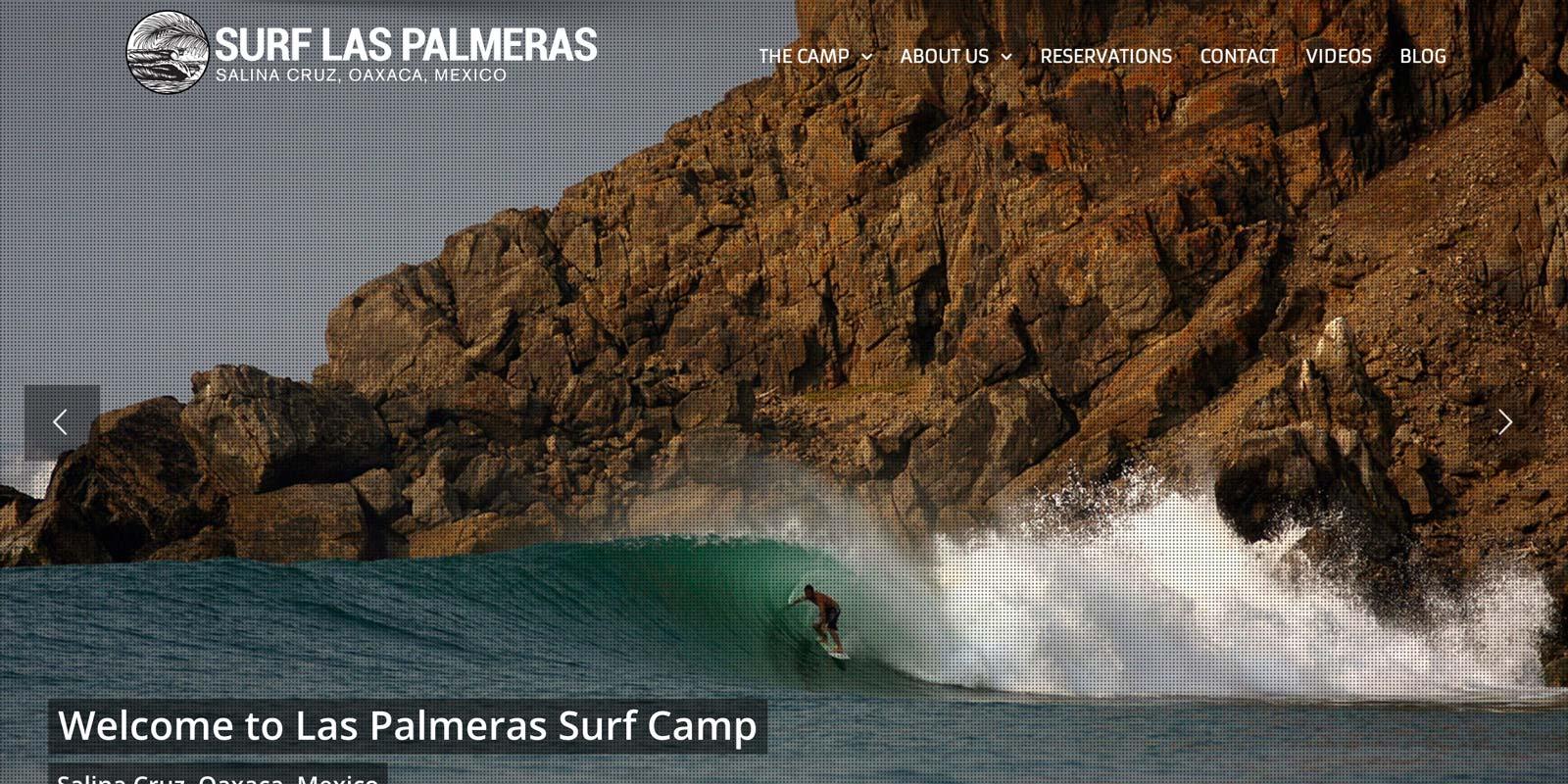 Las Palmeras Surf Camp Website